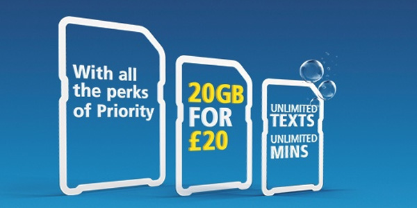20GB for &pound20 with O2